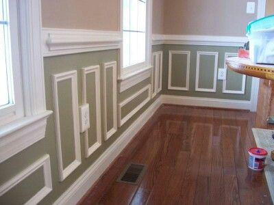 Two Tone Shadow Box Molding Dining Room Wainscoting Room Remodeling Wainscoting Styles