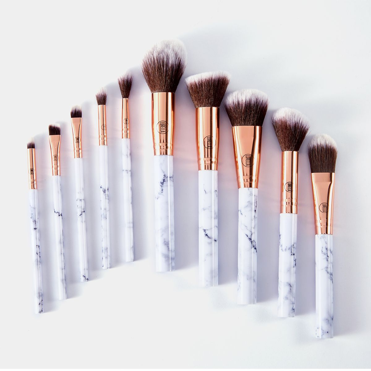 Deluxe Marble Brush Set Makeup Brush Set Cheap Makeup Brushes Make Makeup