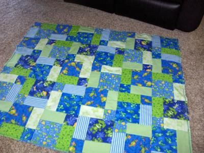 quilting patterns for baby boys | turtle and frog rag quilt i made ... : easy baby boy quilt patterns - Adamdwight.com