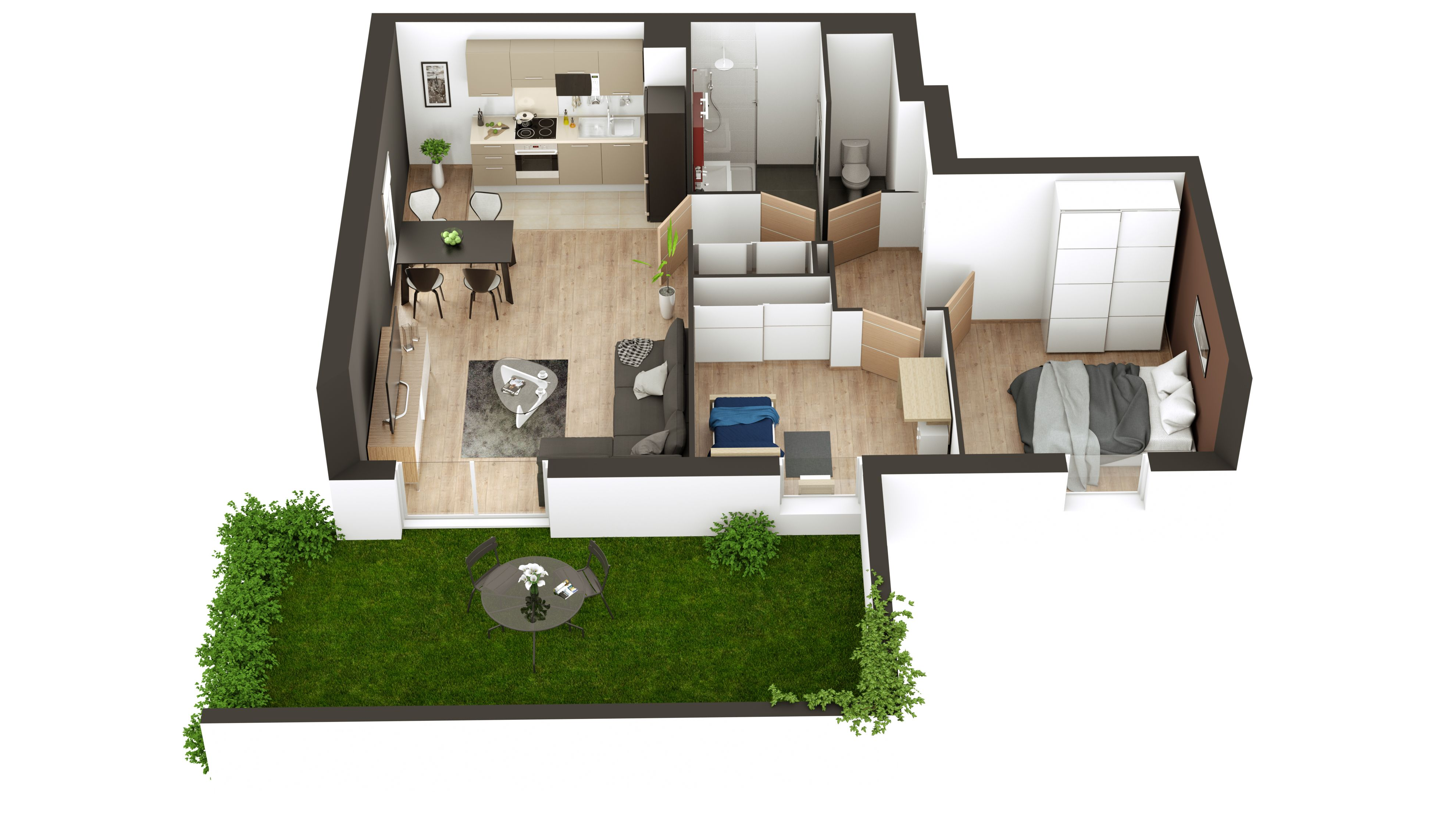 3D Floor Plan Realize Dwith My Sketcher. Create Your Own