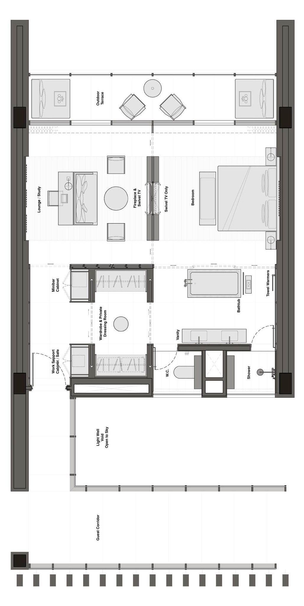 The Lalu Quindao Hotel Floor Plan Apartment Plans Bedroom