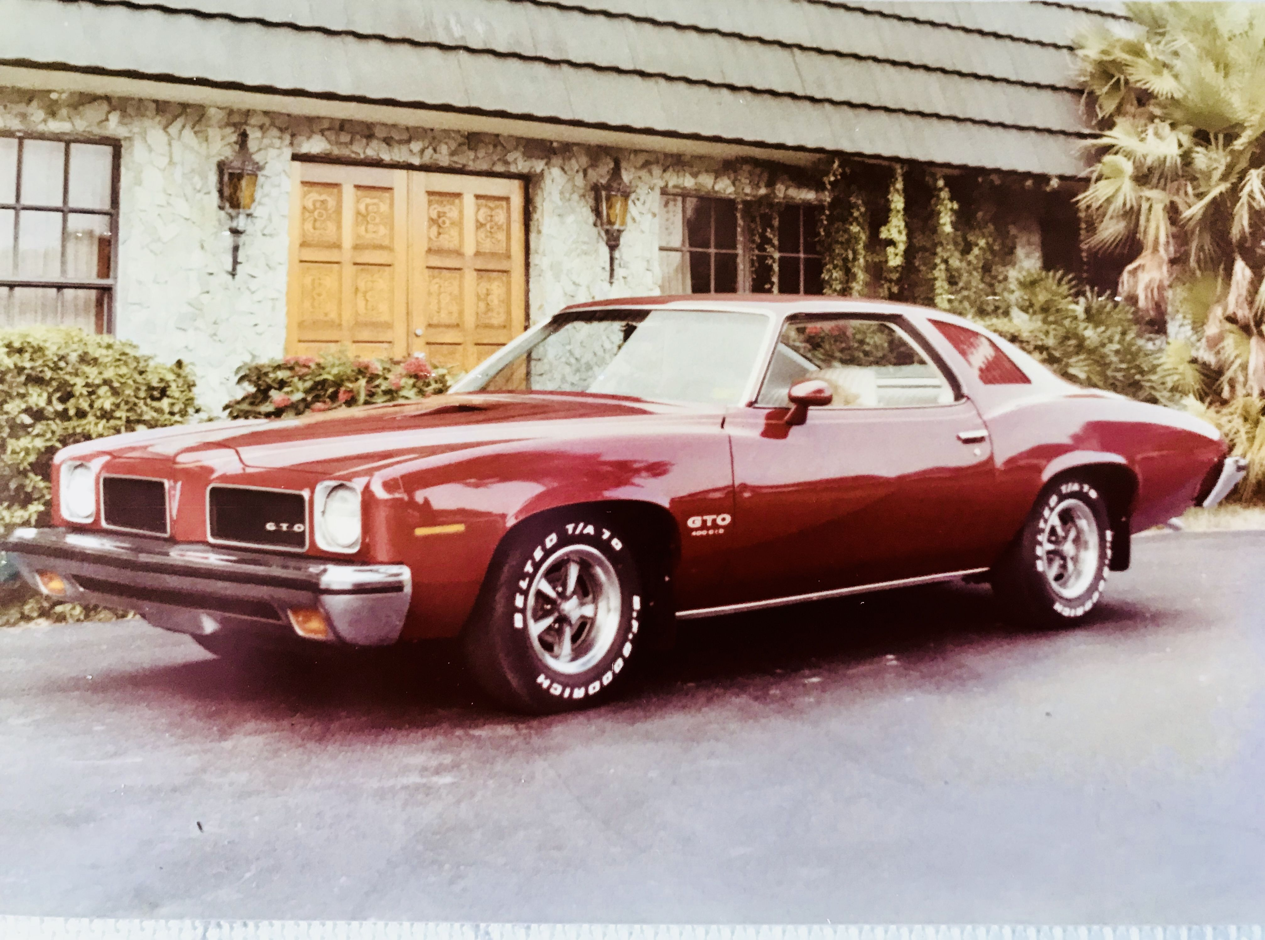 1973 Pontiac Gto Lemans Sport Coupe Florentine Red With White