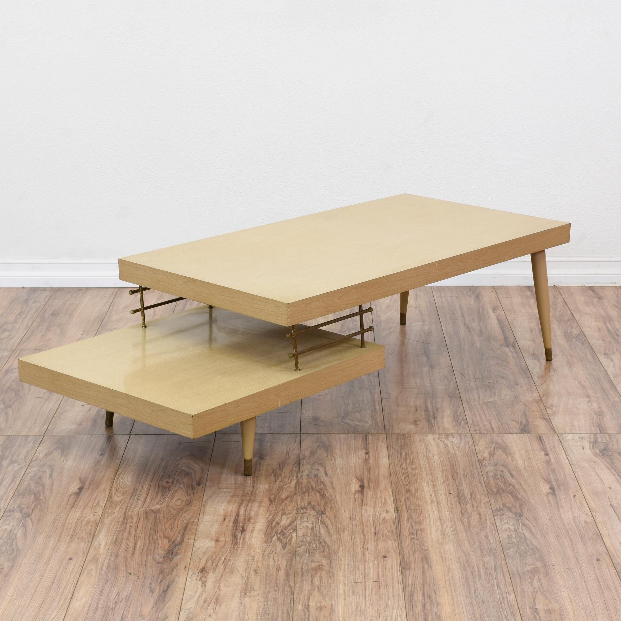 Solid Wood Mid Century Coffee Table: This Mid Century Modern Coffee Table Is Featured In A