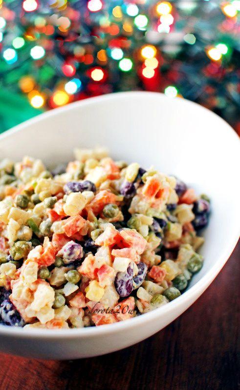 Salatki Na Swieta Przepisy Salatki Ethnic Recipes Salad I Pasta