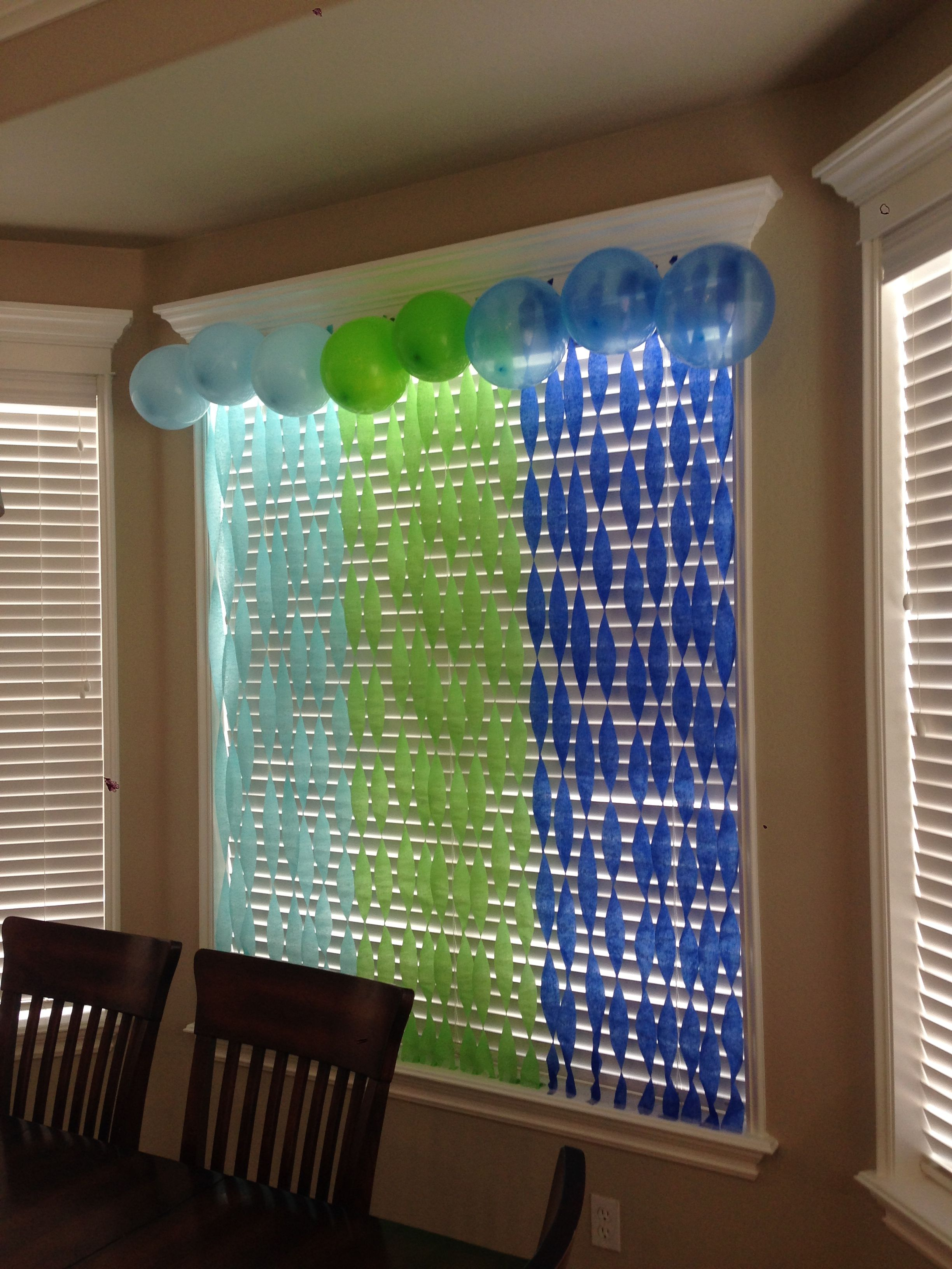 Hang Streamers On The Wall Or Window And Twist Them Then