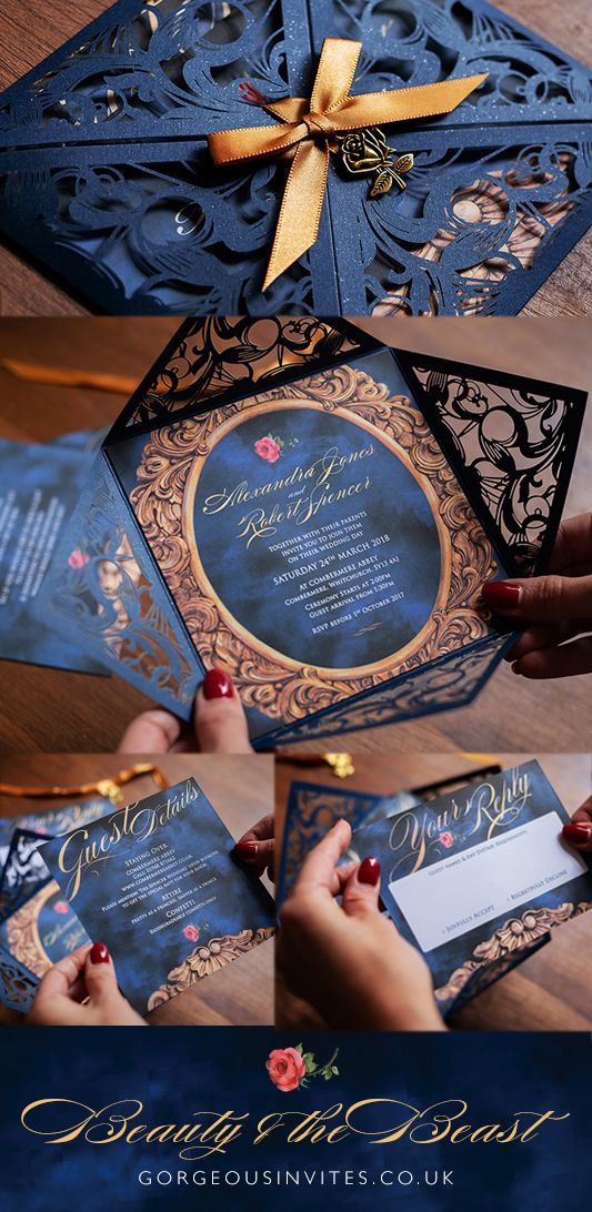 Beauty and the Beast Wedding Invitation -   12 wedding Disney invitations ideas