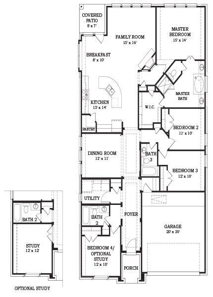 Whitney 4333 Brick Lennar New Homes House Plans