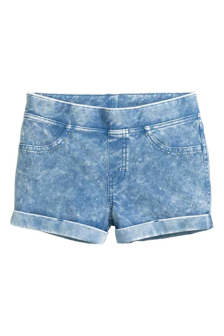 Tricot short met denimlook | H&M