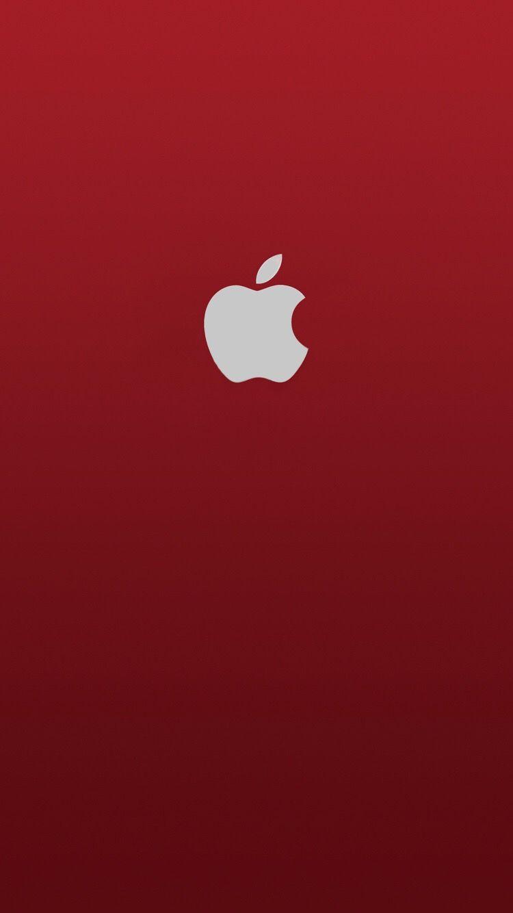 Iphone Wallpaper Apple Red Logo