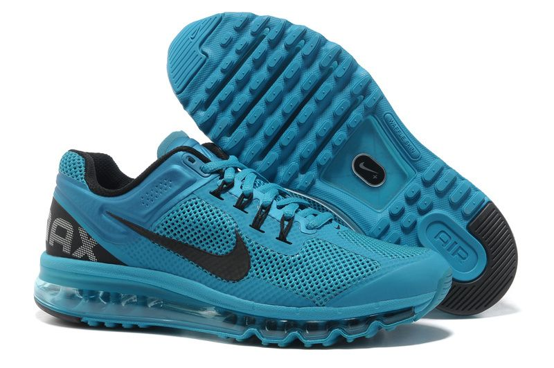 Cheap Nike Air Max 2013 Blue Glow Black Men's Running Shoes