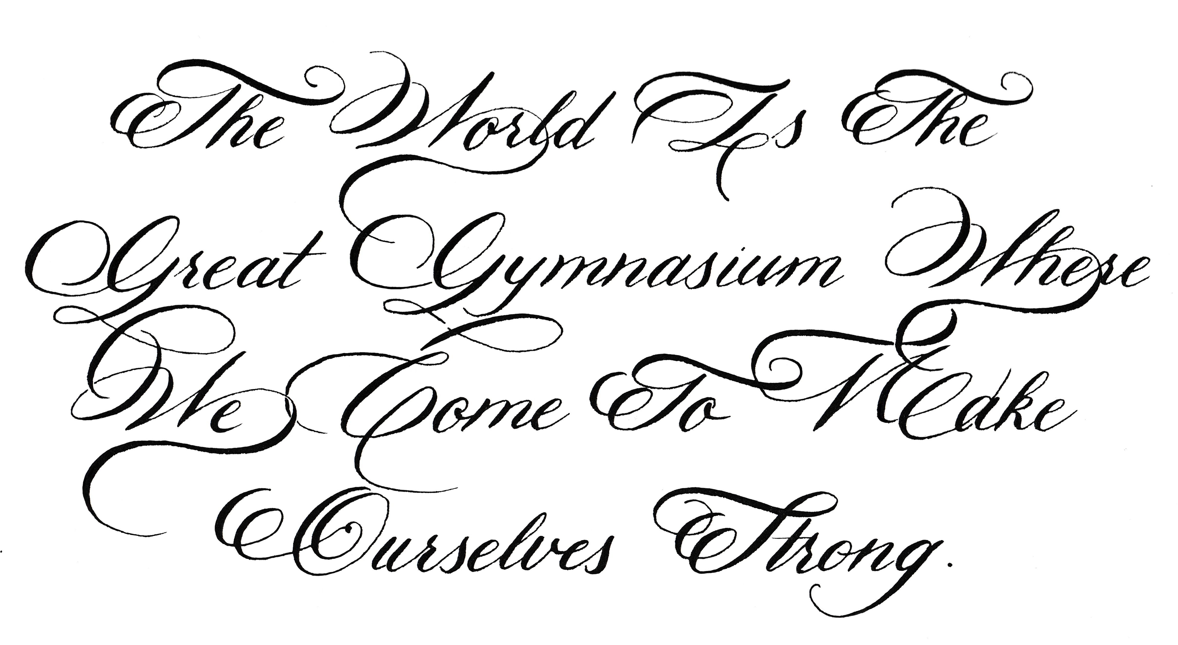 moderne englische schreibschrift copperplate modern