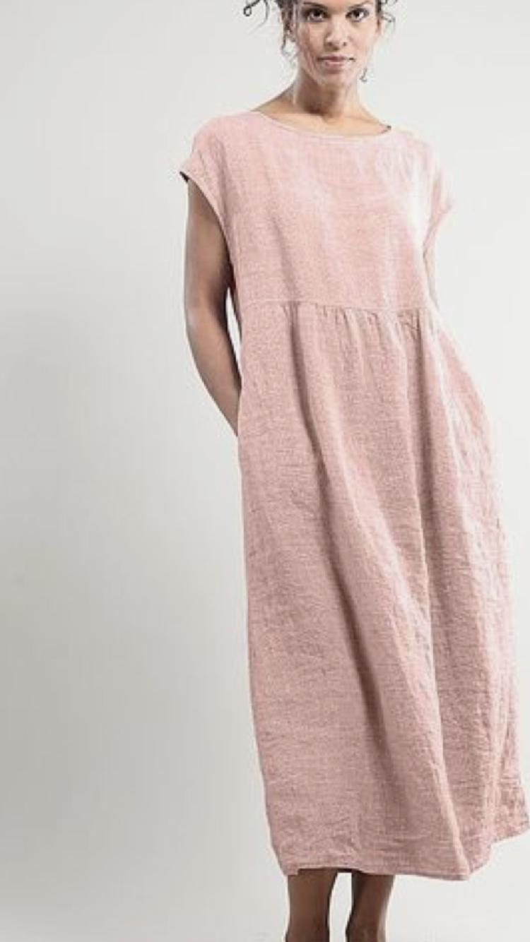 a4b077456637a8 Dusty rose linen tunic