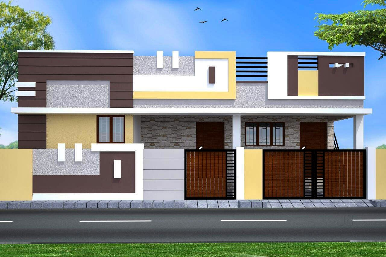 40 Amazing Home Front Elevation Designs For Single Floor Small House Front Design Small House Elevation Design Small House Design Exterior