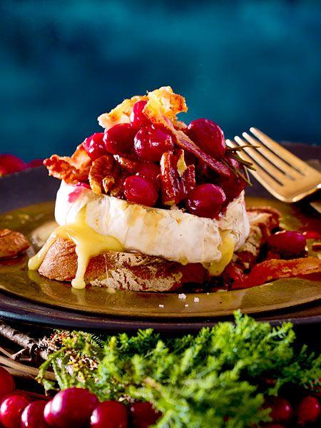 Weihnachtsessen Lecker.Gebackener Camembert Mit Cranberrychutney Rezept Parties