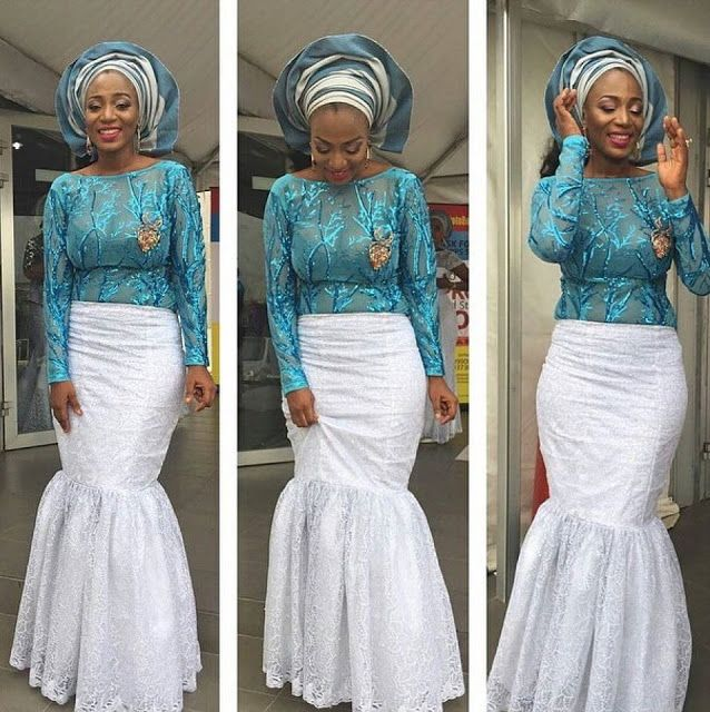 Wedding Dresses : Beautiful Lace Combinations   Pinterest   Ankara ...