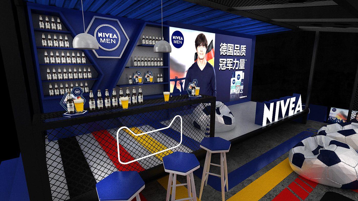 NIVEA MEN POP UP on Behance Nivea, Booth design