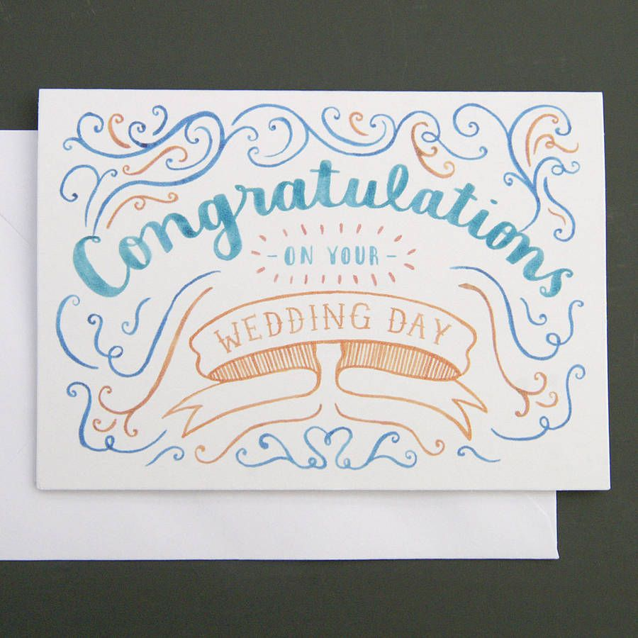 Wedding Congratulations Card To Inspire You How To Make The Wedding