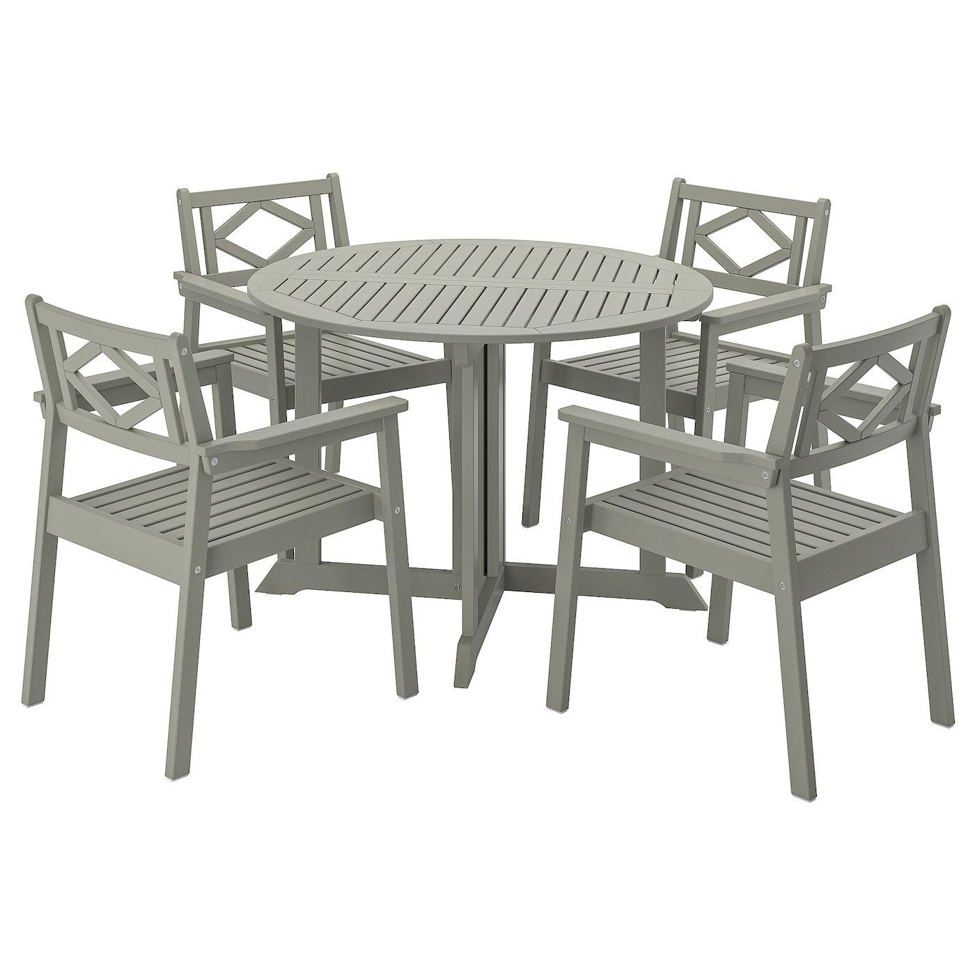 Bondholmen Tisch 4 Armlehnstuhle Aussen Grau Las Ikea Osterreich In 2020 Outdoor Dining Furniture Outdoor Furniture Sets Outdoor Dining