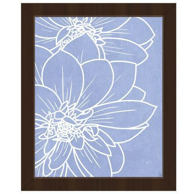 Click Wall Art Periwinkle Dahlias Picture Frame Graphic Art On Canvas Painting Frames Painting Prints Art