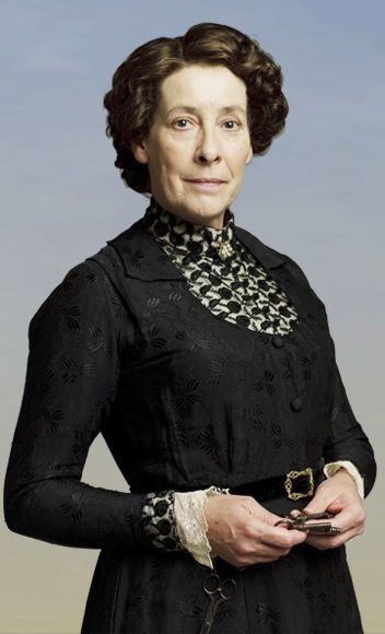 Mrs. Hughes, the head housekeeper at Downton Abbey...a strict but ...