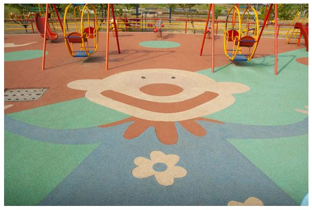 Play Safe Rubber Flooring Rubber Floor Tile Play Area Flooring - Children's indoor play area flooring