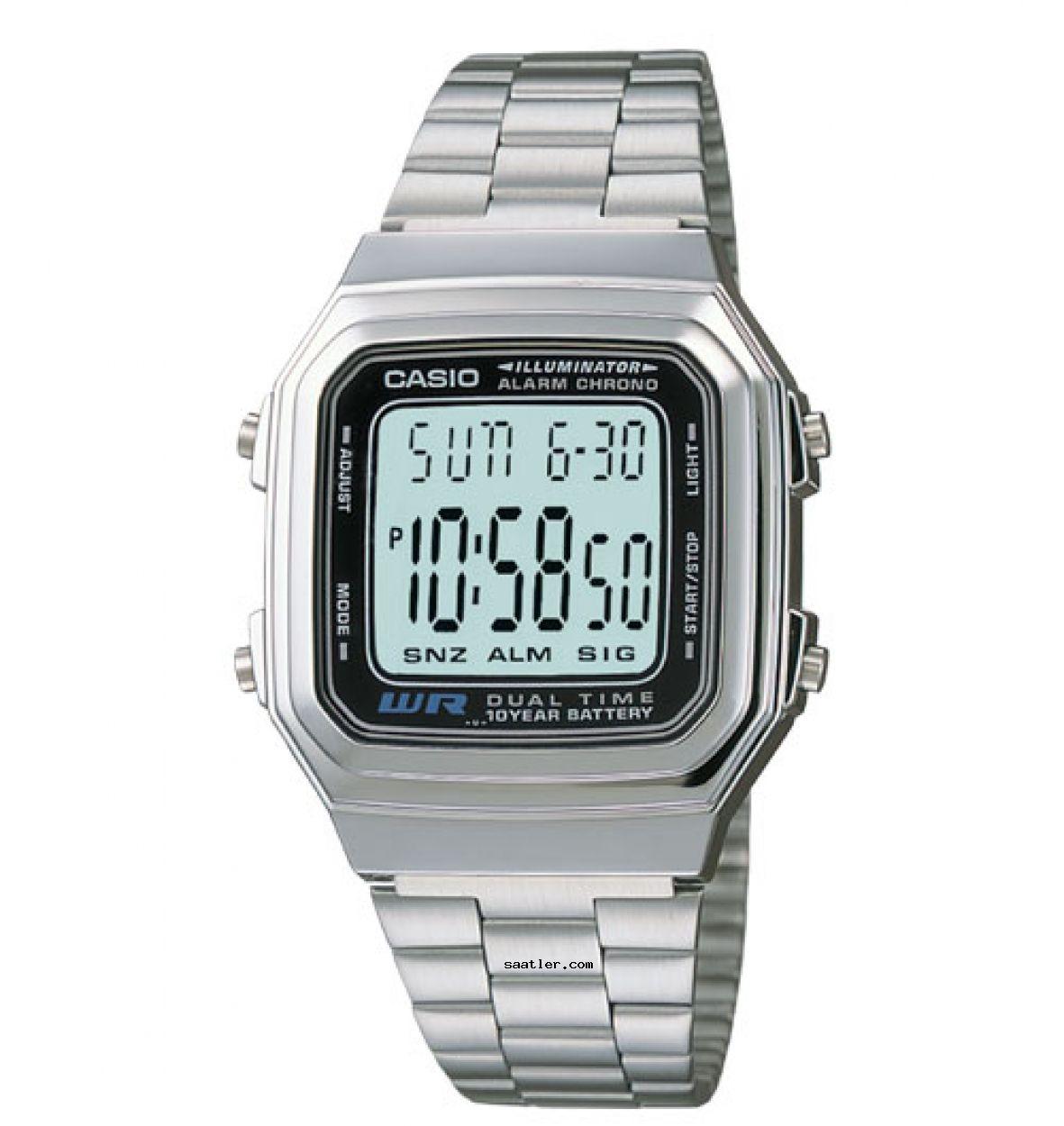 Casio Retro A178wa 1adf Kol Saati Casio Digital Casio Watch Casio
