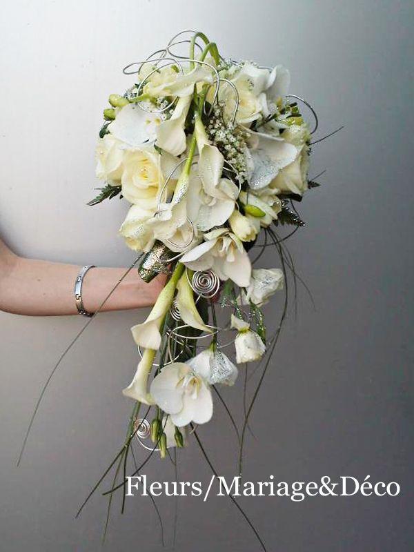 bouquet de calla blanc avec rose rouge - recherche google | fleurs