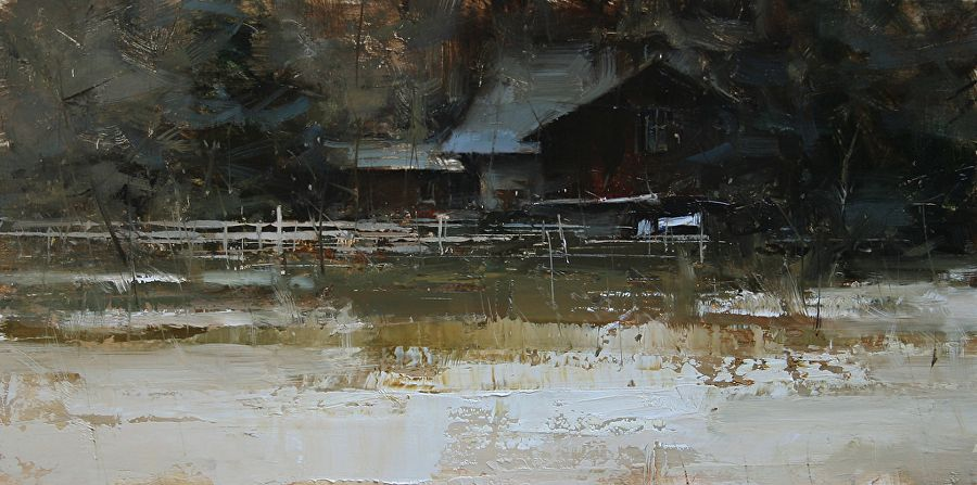 Lost and oil on linen 20 x 10in tibor nagy