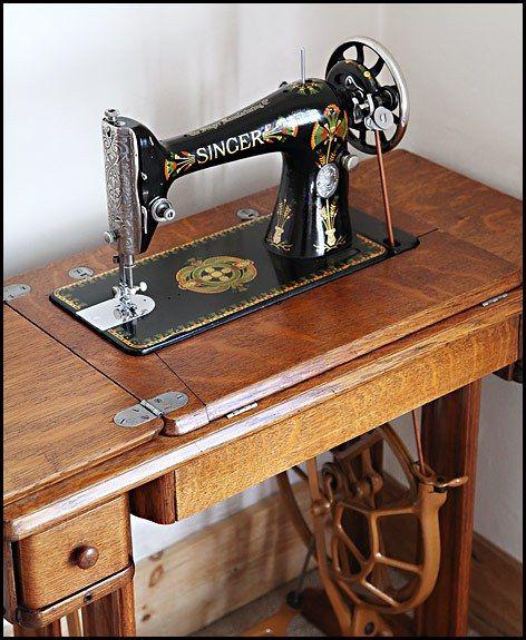 40 Singer Lotus Decal 40K Treadle Vintage Sewing Machines Best Lotus Singer Sewing Machine