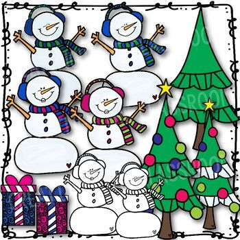 snowman clip art holiday clipart teacher pay teachers classroom rh pinterest com