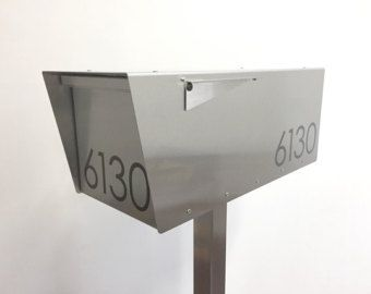 Modern Mailbox Louis S Wall Mounted Mailbox All Brushed Etsy Modern Mailbox Contemporary Mailboxes Stainless Steel Grades