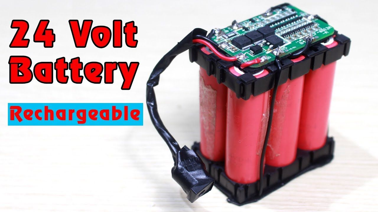 How To Make 24v Rechargeable Battery 6s Lithium Ion Battery Pack