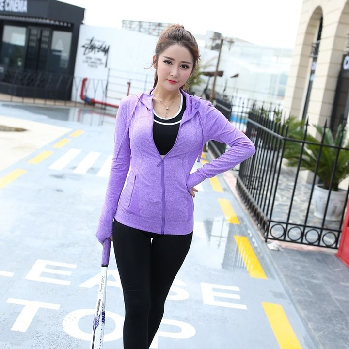 Yoga clothing three-piece women's sports fitness cardigan  AU$42.80.  You got 1. Hooded Jacket...