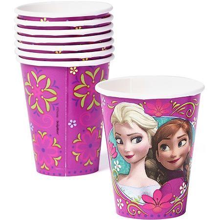 Frozen 9 Oz Paper Party Cups 8 Count Party Supplies Walmart Com