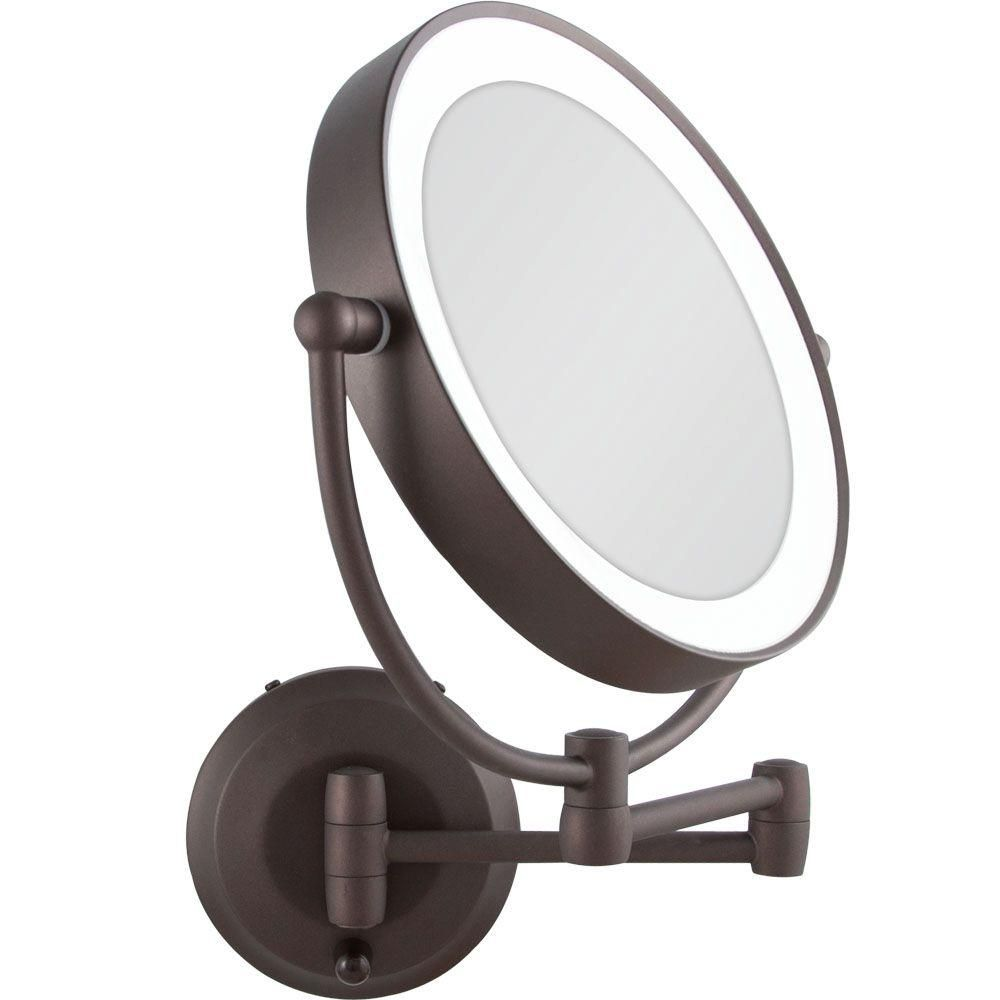 Gallery For Website Bathroom Mirror Magnifying x Lighted Wall Mount