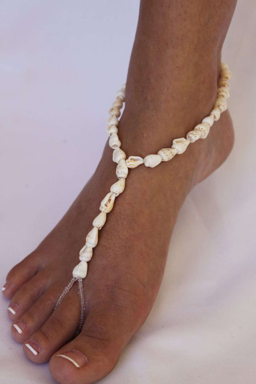 barefoot sandals shells My Style Pinterest Barefoot Bridal