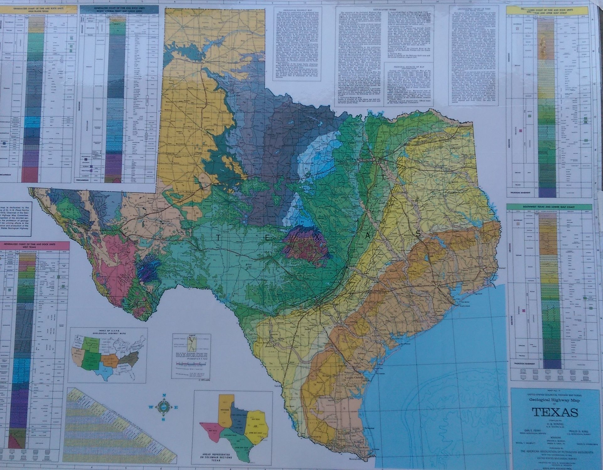 Geological Map Of Texas Maps Old And New Map Old New Geology