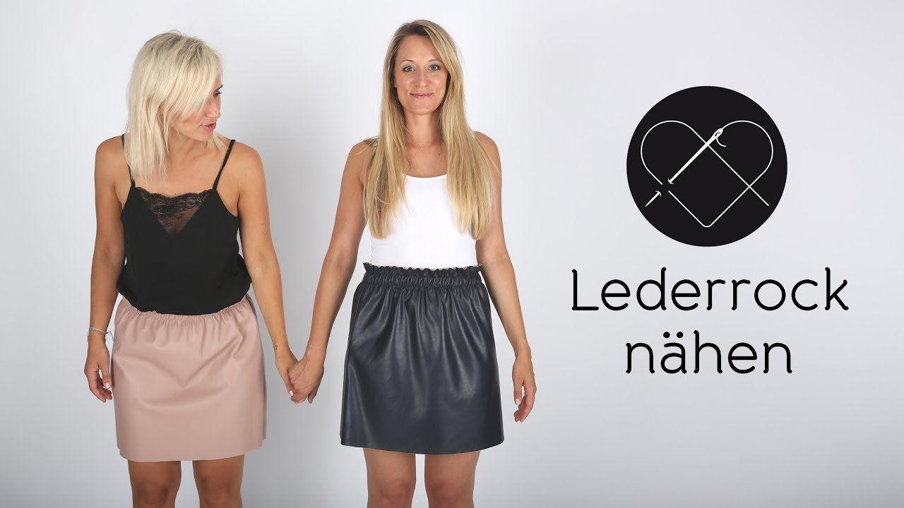 Lederrock nähen - Nähanleitung für Anfänger | DIY mit der ...