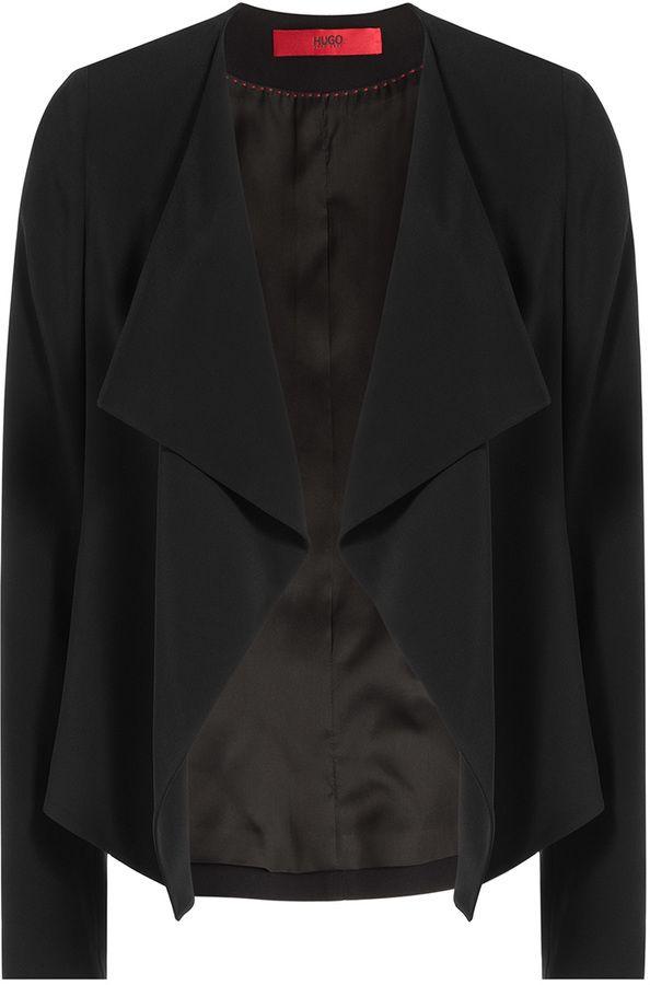 Hugo Draped Crepe Jacket