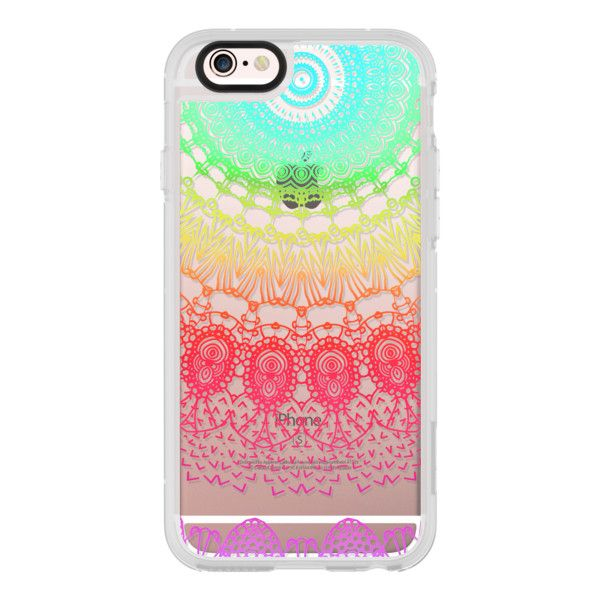 iPhone 6 Plus/6/5/5s/5c Case - BOHO LACE NEON RAINBOW by Monika... ($40) ❤ liked on Polyvore featuring accessories, tech accessories, iphone case, apple iphone cases, iphone cover case, rainbow iphone case and neon iphone case