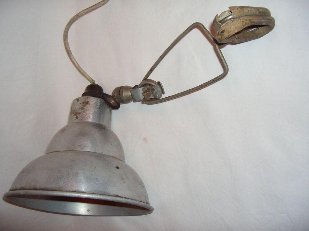 vintage photax aluminium clip on workshop lamp spotlight industrial adjustable