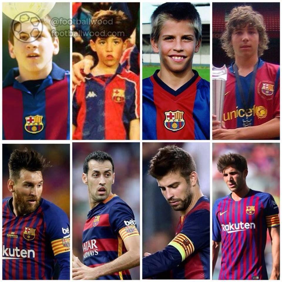 "Since childhood for ""Barcelona"" 💪 #barcelona"