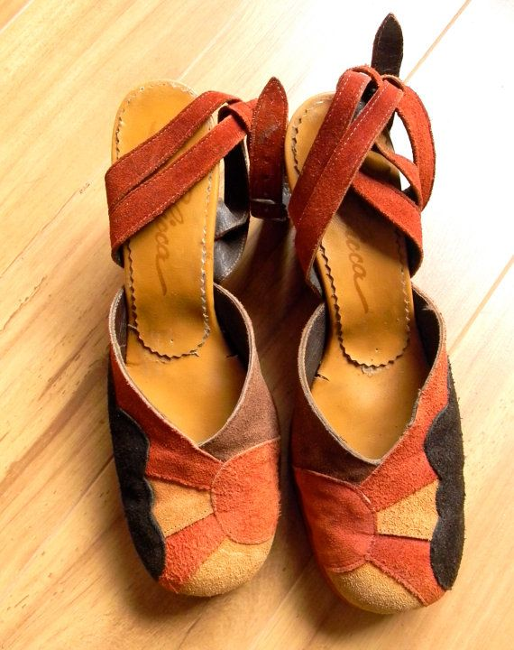 Vintage 1960s 70s Platform Shoes  Sbicca Suede Womens Sandals  True ... bc66d6b15856