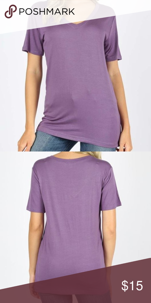 Premium Rayon V Neck Short Sleeve Box Tee