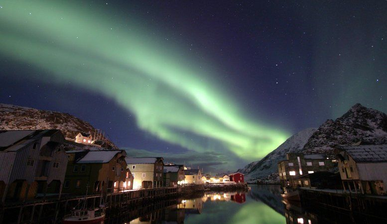 Northern Lights in Nyksund