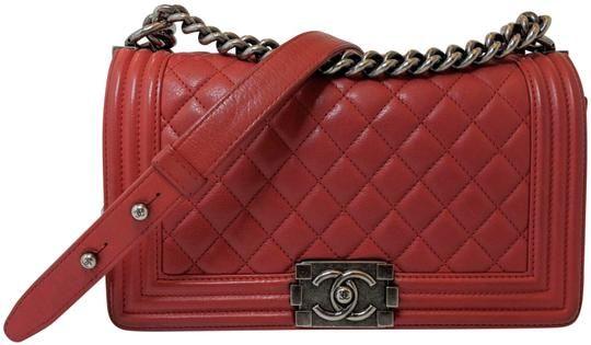 129c936ce Chanel Boy Medium Ruthenium Hardware Red Lambskin Leather Shoulder Bag. Get  one of the hottest