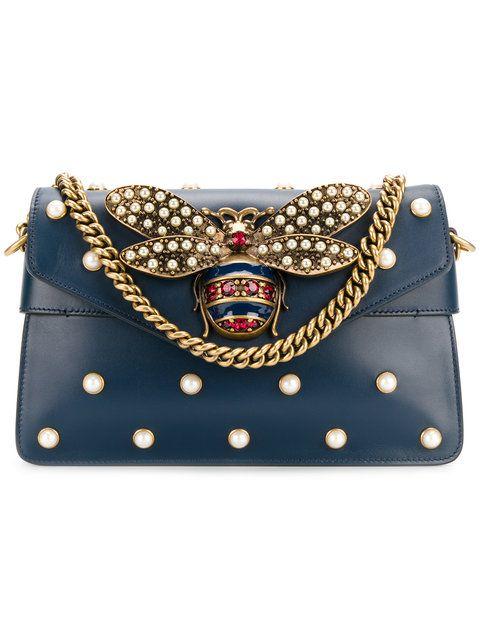 5cc7af8f52dfdb Gucci Broadway Bee Plaque Mini Bag - Farfetch | Glamorous Fashion ...