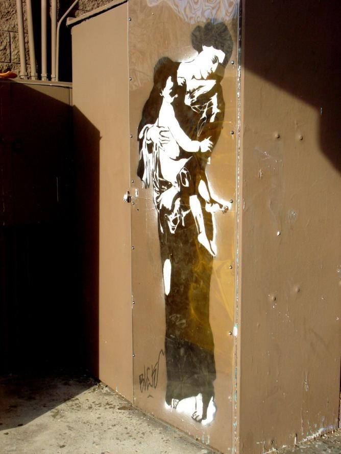 Madonna And Child By Blek Le Rat Street Art Pinterest Blek Le