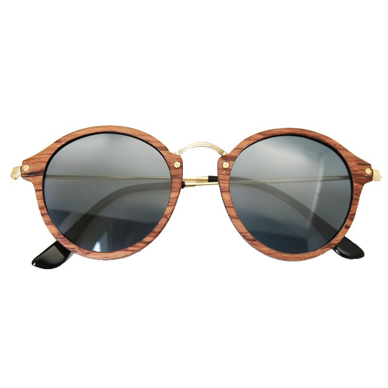 Ultralight Wooden Round Frame Sunglasses - WS10067 | Round frame ...