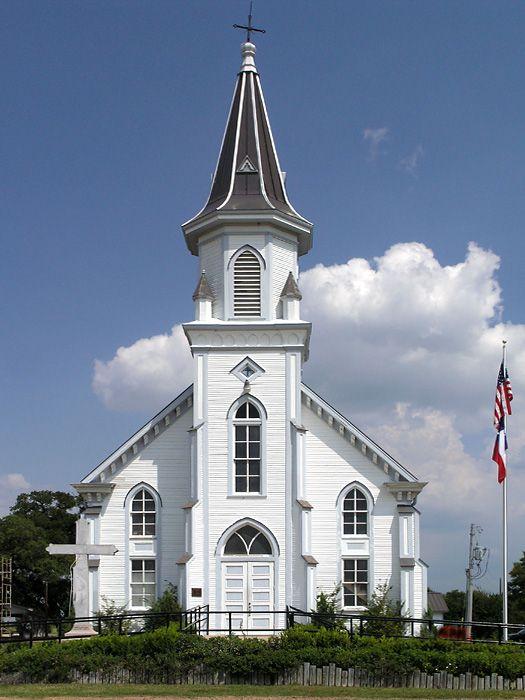Dubina Texas By John B Chandler Church Steeple Country Church Old Country Churches